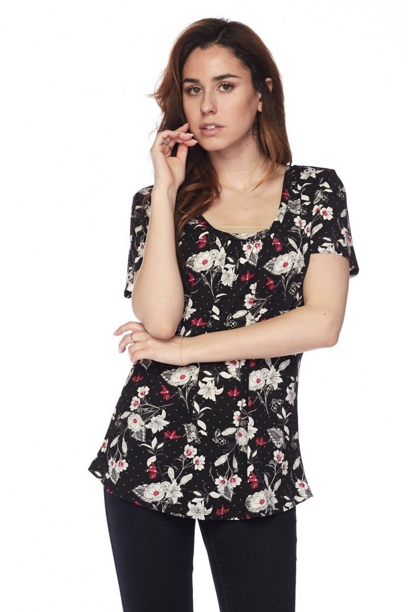 Music To My Eyes Floral Top - Sizes 12-20
