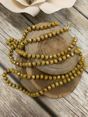 The Point Of Perfection Beaded Necklace in Mustard