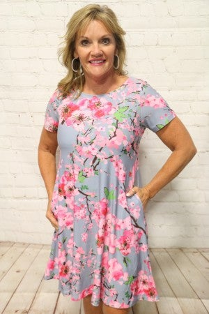 Floral Days Dress In Multiple Colors- Sizes 4-20