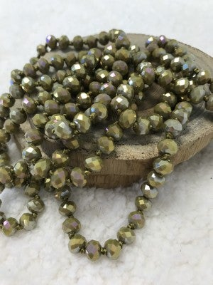 Point of Perfection Beaded Necklace in Olive