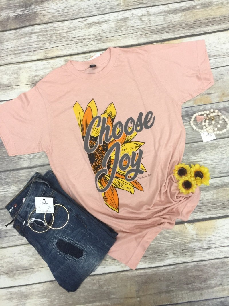 Choose Joy Graphic Tee of the Month in Dusty Peach ~ Sizes 4-20