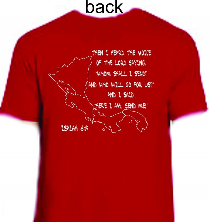 "**FUNDRAISER** ""Here I Am, Send Me"" Graphic Tee in Red ~ Sizes 4-20"