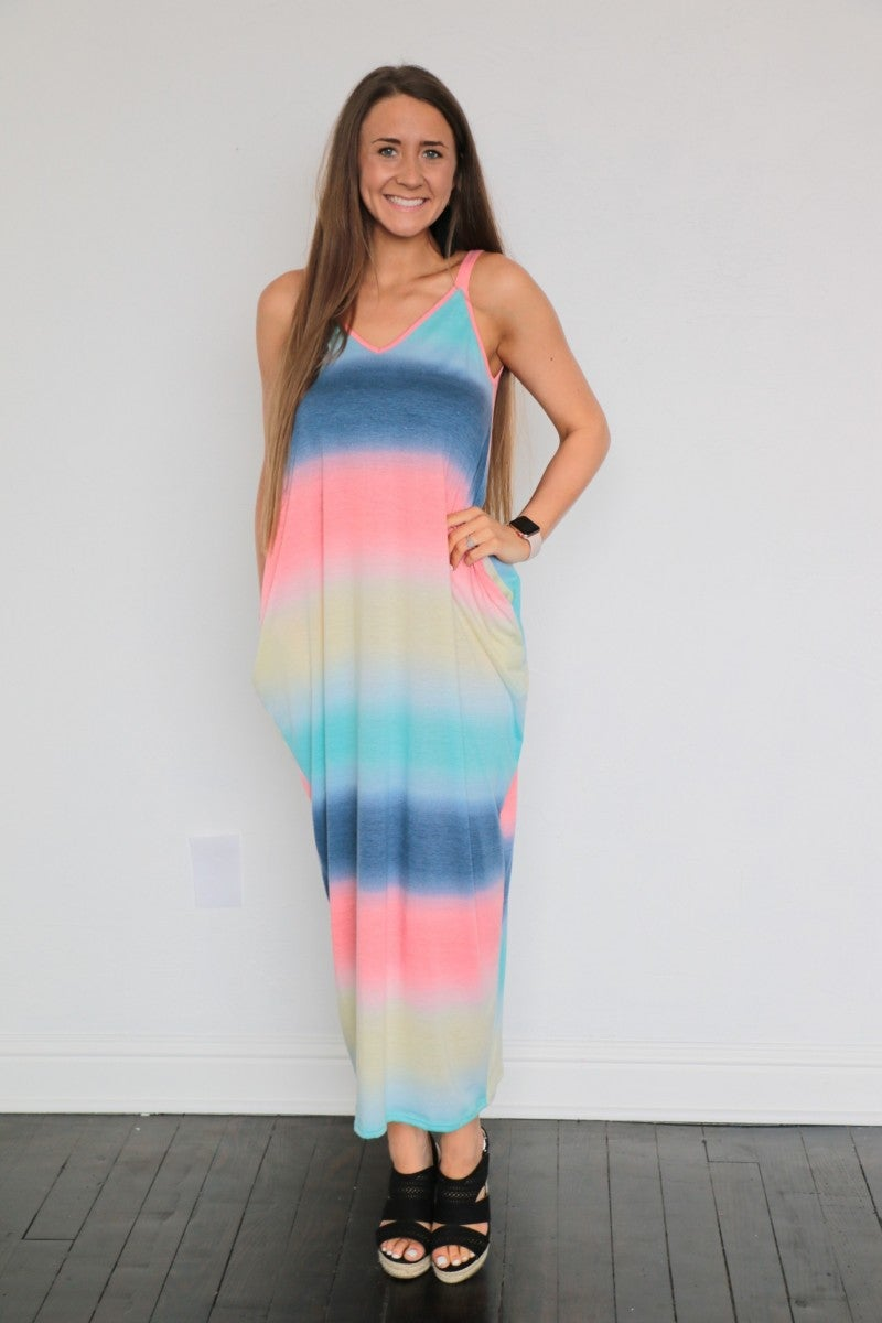 Easy & Free Colorful Maxi Dress - Sizes 4-20 *Final Sale*