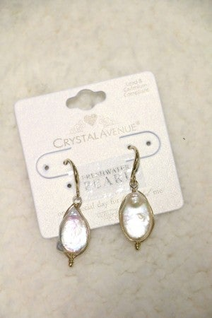 The World Is My Oyster Oval Freshwater Pearl Drop Earring