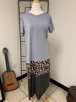 Can't Wait For Summer Maxi Dress with Leopard Middle ~ Sizes 4-22