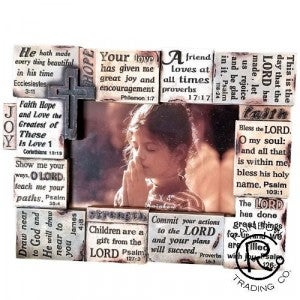 Colorful Bible Picture Frame in Stone Finish