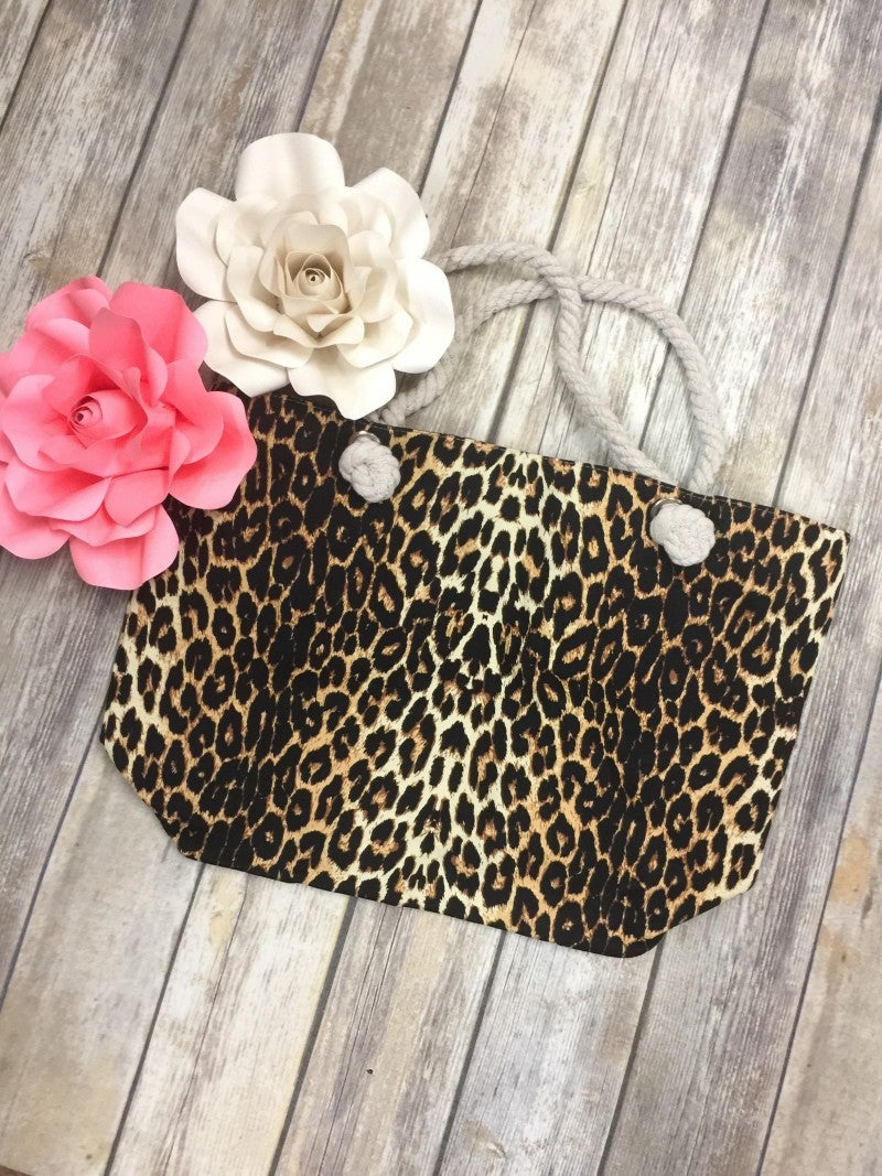 Leopard Canvas Tote Bag