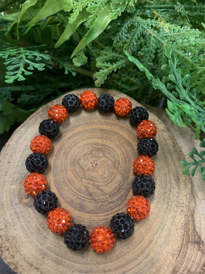 Autumn Shine Orange & Black Bracelet