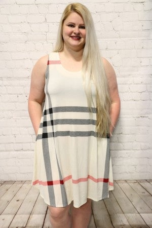 Oh So Classy Burberry Dress In Creme- Sizes 12-20