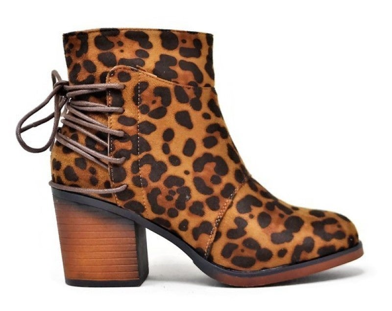 Stepping Sassy Leopard Booties