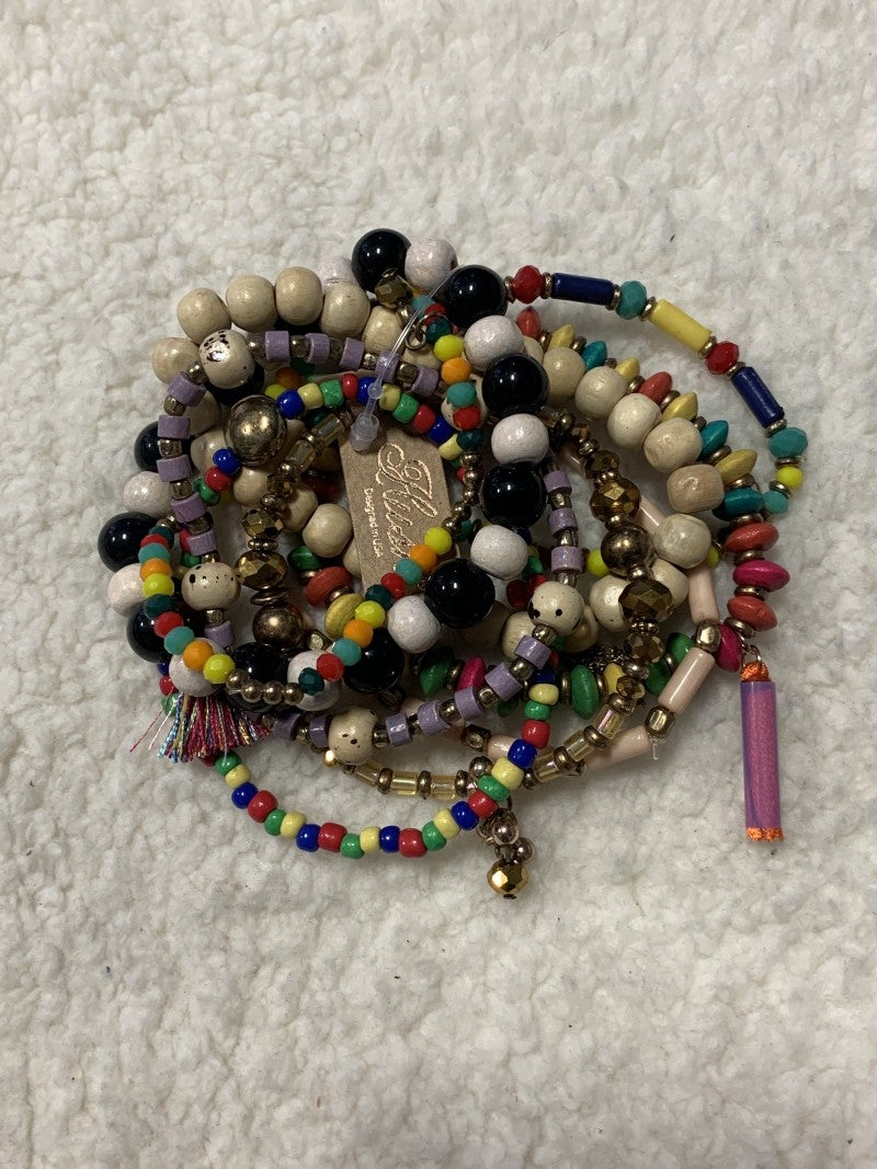 Around The World Mutli Strand Stretch Bracelet In Multi Colors