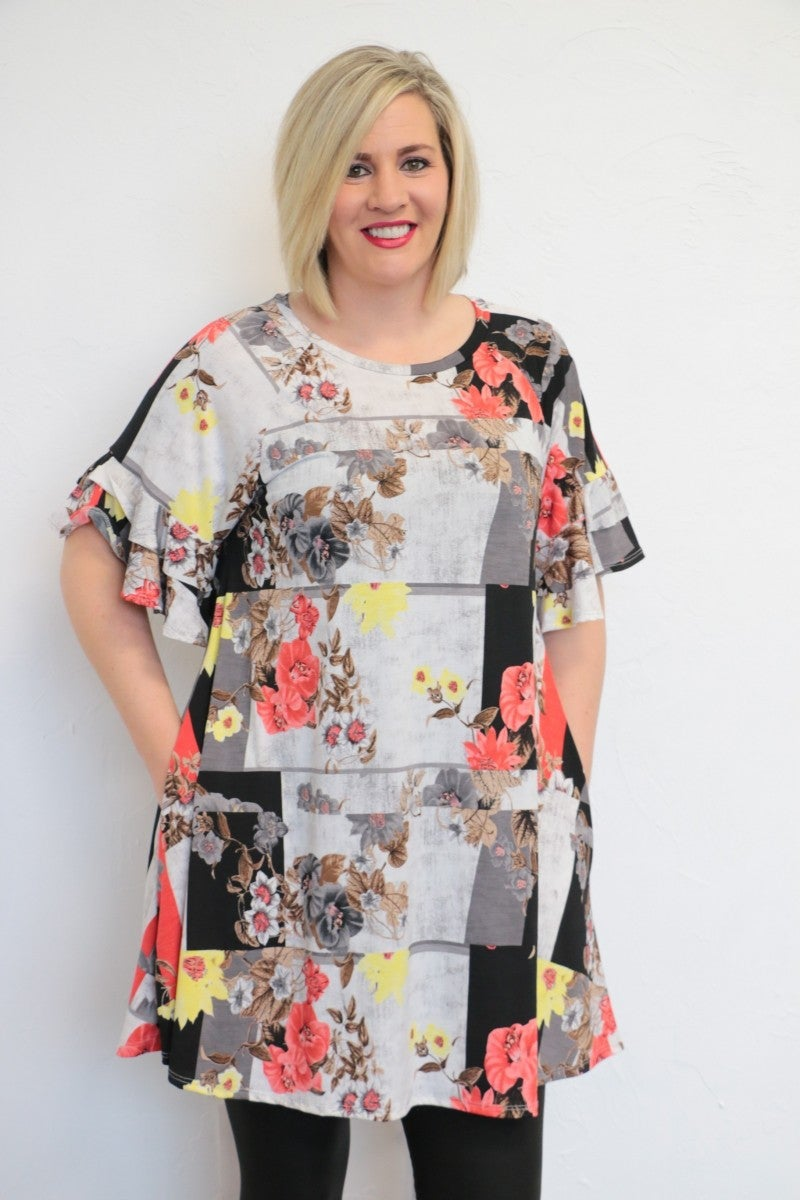 Love Me Long Floral Dress - Sizes 4-20