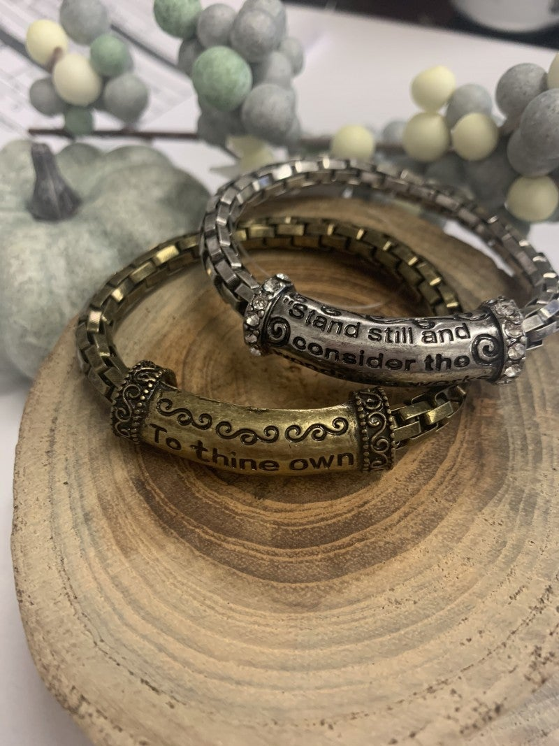 The Lord Metal Link Stretch Bracelet - Multiple Options