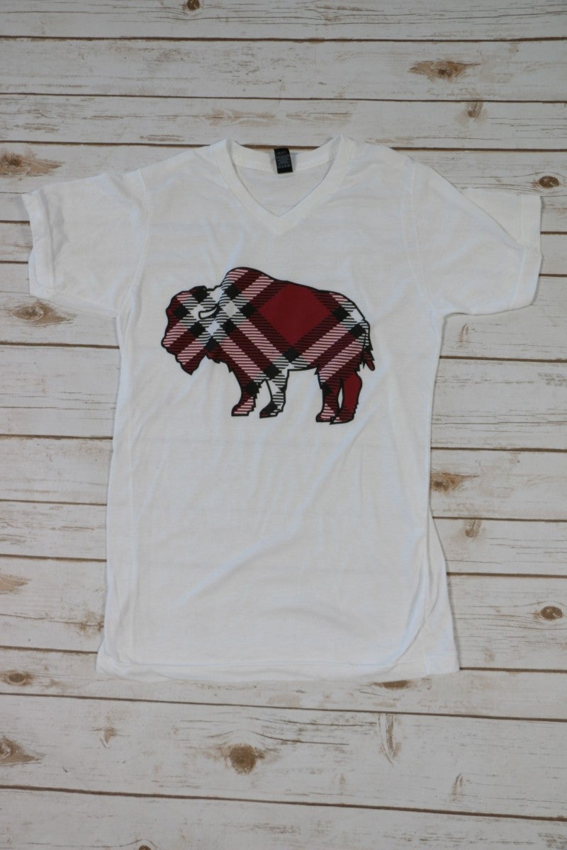 My Favorite Plaid Buffalo Graphic Tee ~ Size 4-20