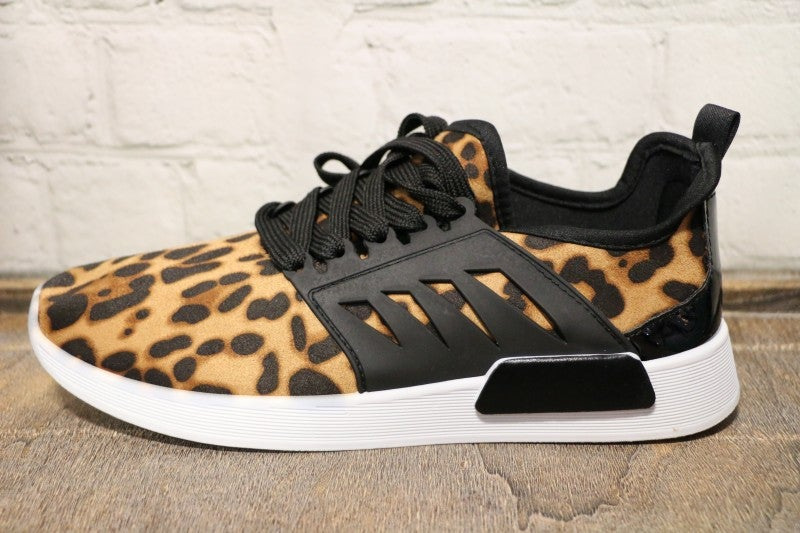 Lovely Leopard Sneakers-Sizes-7-11