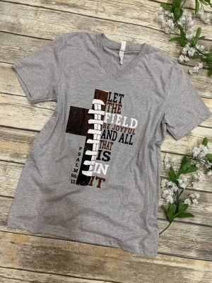 Let the Field be Joyful Football Graphic Tee - Sizes 4-20***PRE-ORDER***