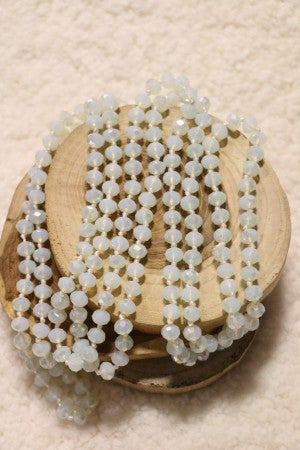 Point Of Perfection Beaded Necklace in Opal