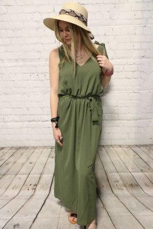 Bowknot Sleeveless Jersey Dress with Optional Belt ~ Sizes 4-14