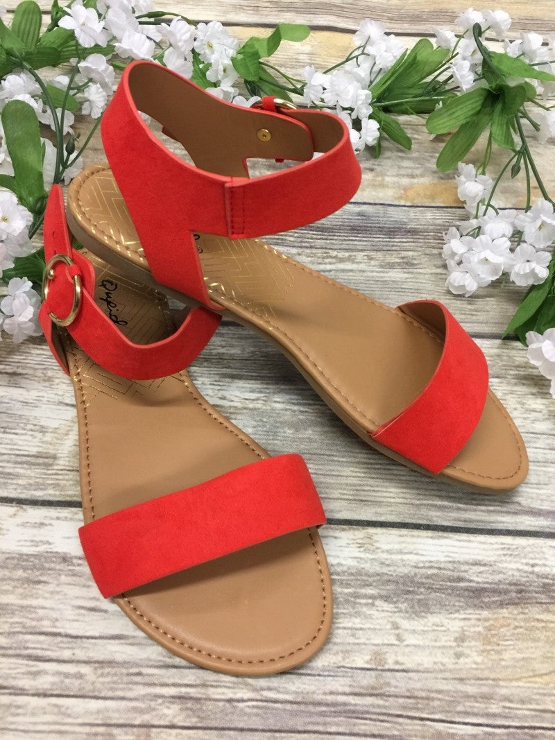 Know The Way To You Sandals - Red