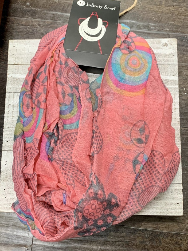 Lois's Favorite Summer Infinity Scarf in Multiple Prints
