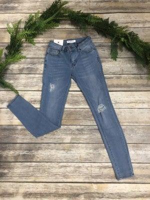 The Sandy Light Denim Distressed Jeans- Sizes 1-15