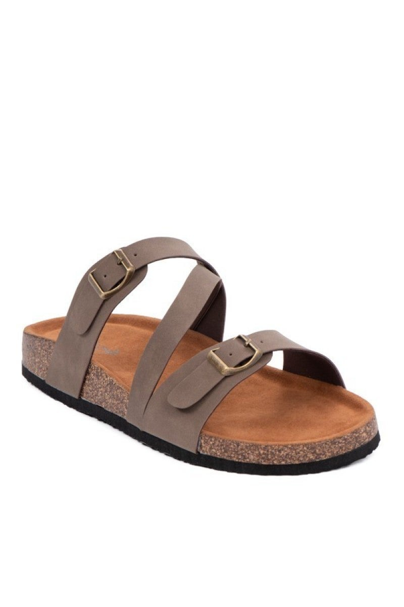 Pep In My Step Strappy Sandal in Mocha - Sizes 6-10
