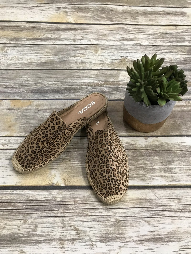 Walkin' Your Way Leopard Espadrille Slip On