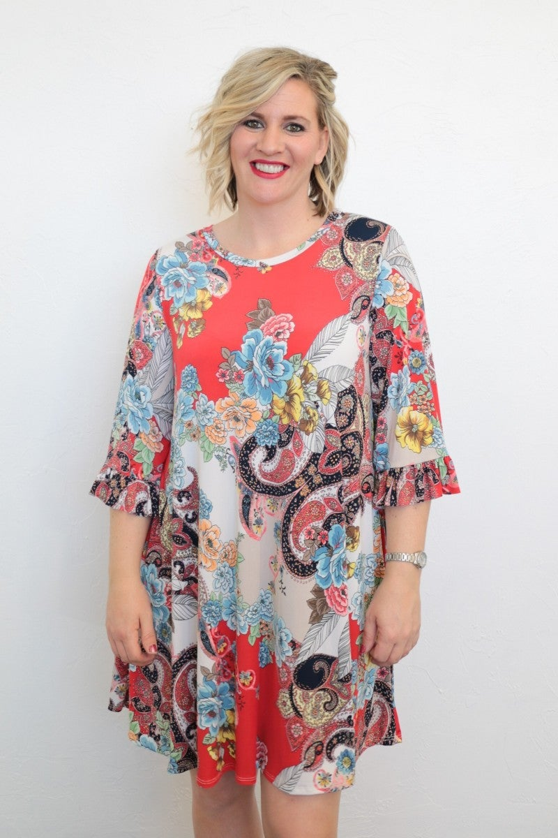 For All We Know Floral Dress - Sizes 4-20