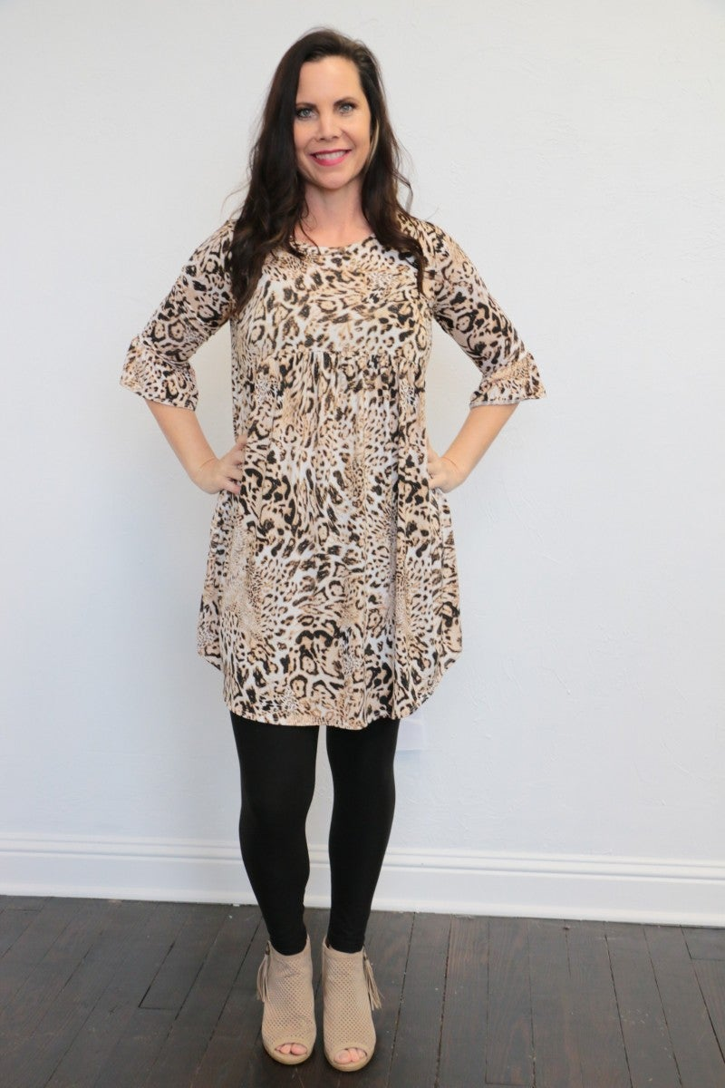 She's My Girl Babydoll Leopard Dress - Sizes 4-20