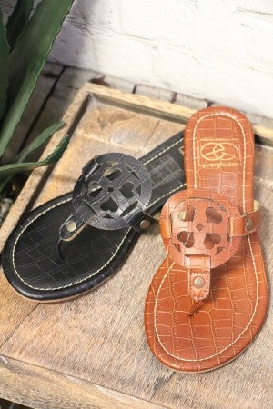 Got To Know Crocodile Print Sandals In Multiple Colors- Sizes 6-10