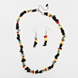 Sticks & Stones Multi-Color Necklace and Earrings Bundle