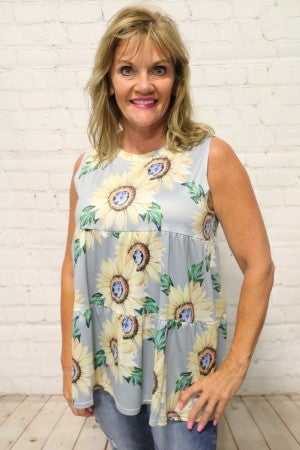All My Life Sunflower Tiered Top In Multiple Colors- Sizes 4-12