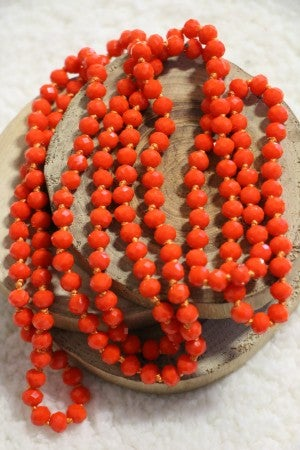 Point of Perfection Beaded Necklace in Hot Lava