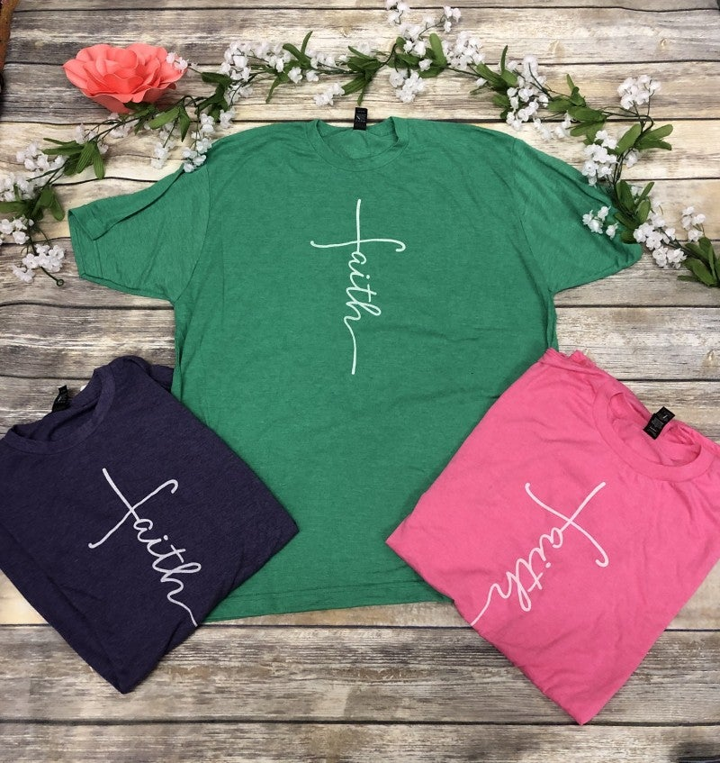 I Have Faith Graphic Tee in Multiple Colors - Sizes 4-20