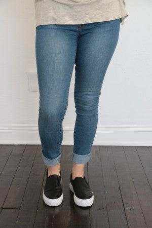 The Mikaela Skinny Jean In Medium Denim Sizes 1-15