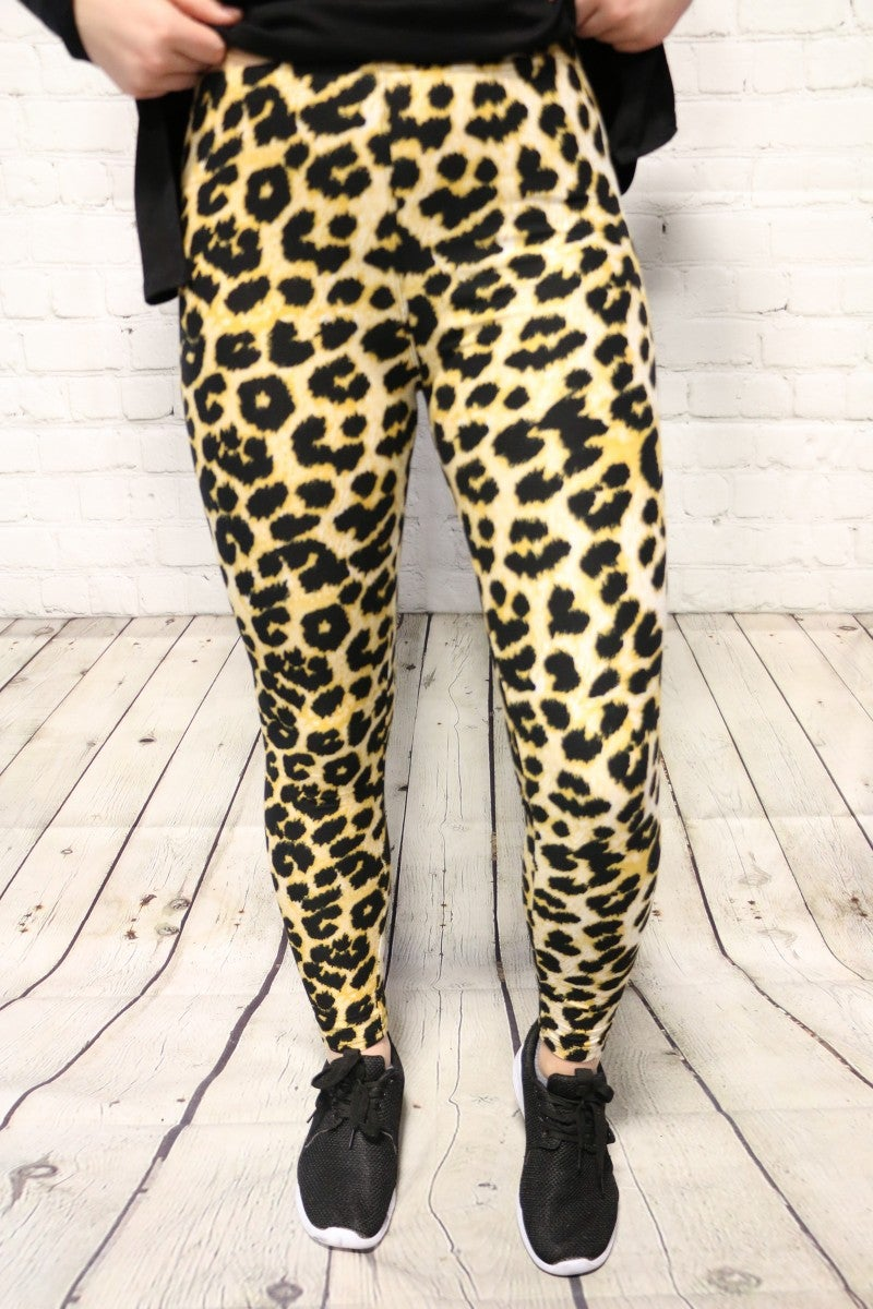 Super Sassy Leopard Leggings - Sizes 4-20
