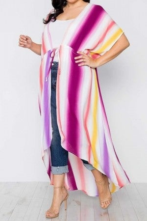 Out And About High Low Kimono - Sizes 4-20