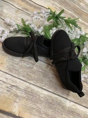 Take Five Black Knit Sneakers - Sizes 5.5 -10