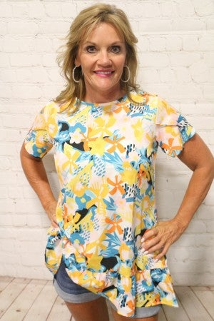 Blinded by the Light Floral Print Top - Sizes 4-20