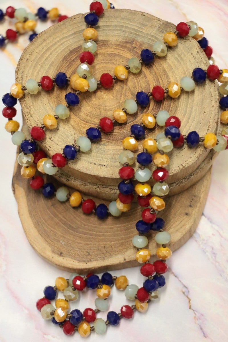 Point Of Perfection Beaded Necklace In Carnival