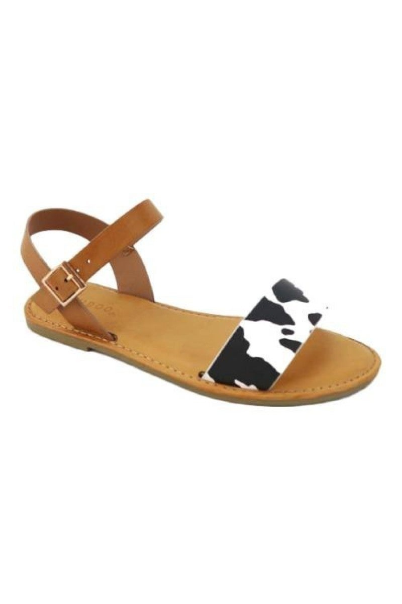 Cutest Ever Cow Print Sandals