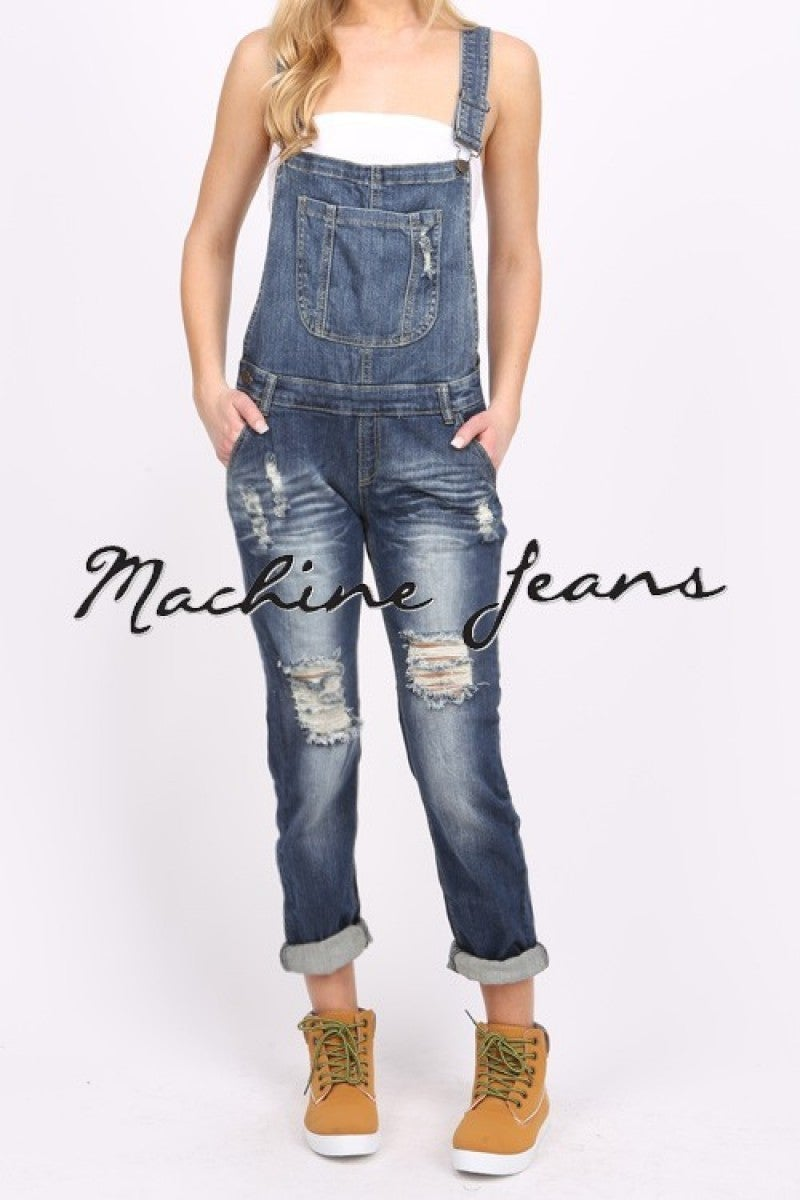 Making a Comeback Distressed Overalls Sizes 4-10