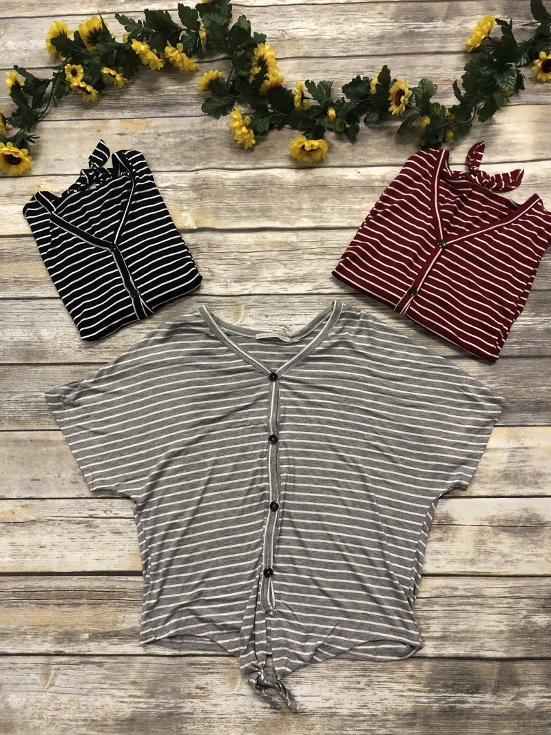 Gone With The Wind Striped Top in Multiple Colors - Sizes 4-10
