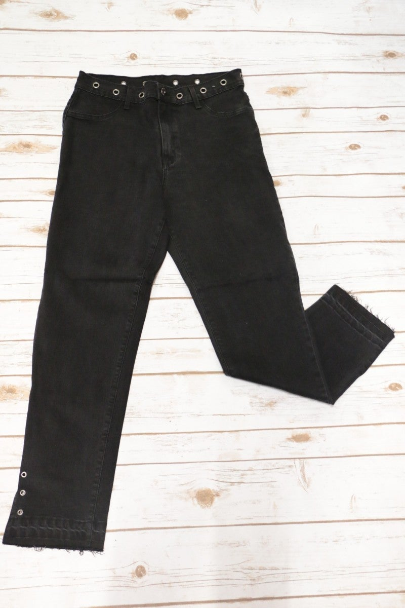 The Young Black Denim Wash Groomet With Released Hem - Sizes 12-20