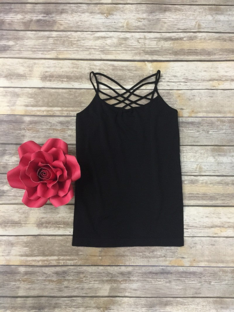 Spin It Up Lattice Cami in Black ~ Sizes 12-20