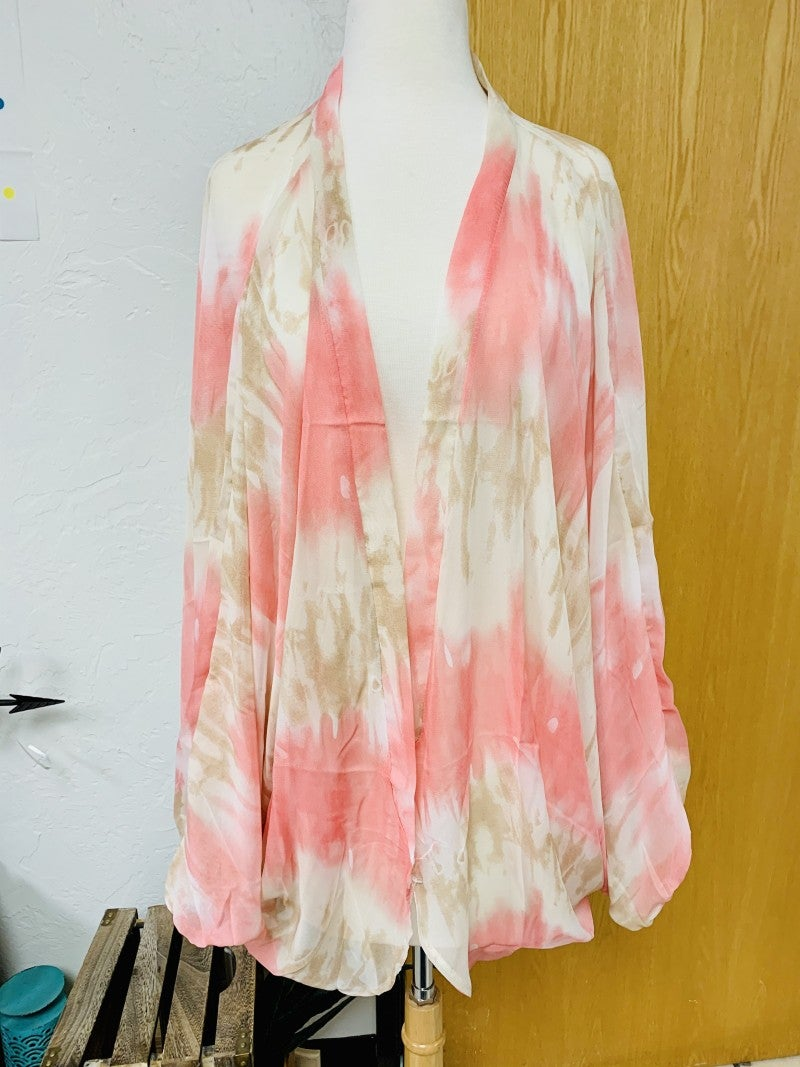 The Jadyn Sheer Tie Dye Kimono in Multiple Colors ~ One Size Fits Most 4-20