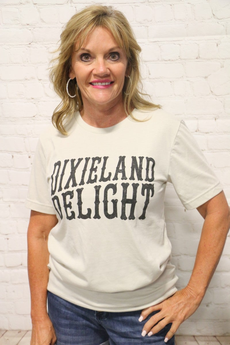 DixieLand Delight Graphic Tee in Gray - Sizes 4-20