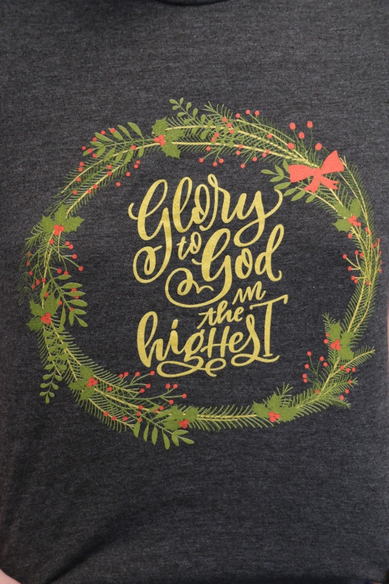 Glory To God In The Highest December Tee Of The Month- Sizes 4-20