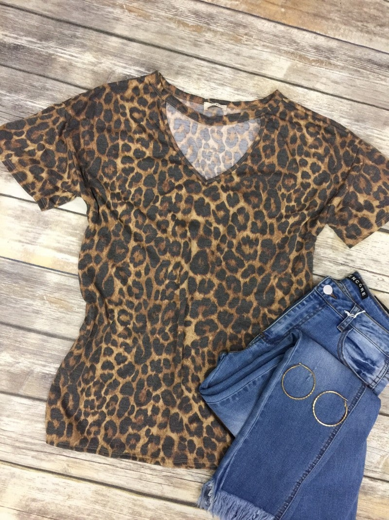 Confidently Yours Leopard Top with Choker - Sizes 4-10