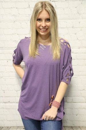 So Much More Criss-Cross Sleeved Top - Sizes 4-20- Multiple Colors